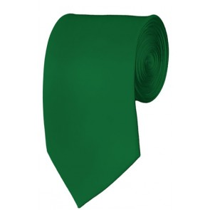 Slim Kelly Green Necktie 2.75 Inch Ties Mens Solid Color Neckties
