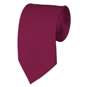 Slim Raspberry Necktie 2.75 Inch Ties Mens Solid Color Neckties