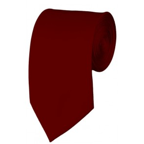 Slim Burgundy Necktie 2.75 Inch Ties Mens Solid Color Neckties