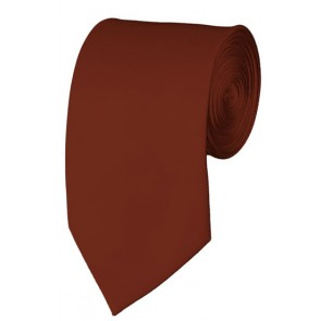 Slim Cinnamon Necktie 2.75 Inch Ties Mens Solid Color Neckties