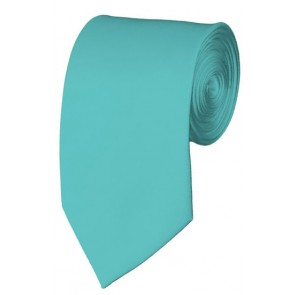 Slim Aqua Green Necktie 2.75 Inch Ties Mens Solid Color Neckties