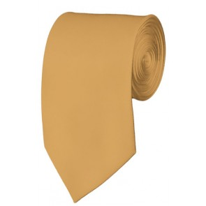Slim Honey Gold Necktie 2.75 Inch Ties Mens Solid Color Neckties