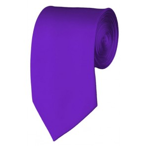 Slim Plum Violet Necktie 2.75 Inch Ties Mens Solid Color Neckties