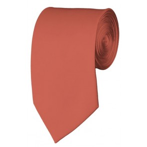 Slim Palm Coast Coral Necktie 2.75 Inch Ties Mens Solid Color Neckties