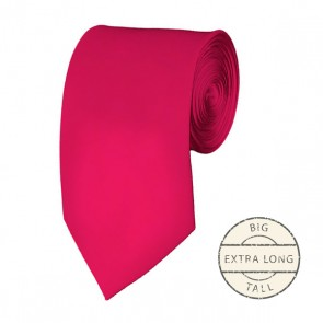 Fuchsia Extra Long Tie Solid Color Ties Mens Neckties