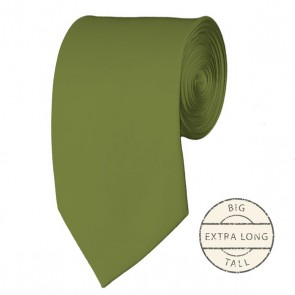 Olive Extra Long Tie Solid Color Ties Mens Neckties