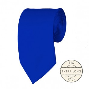 Royal Blue Extra Long Tie Solid Color Ties Mens Neckties