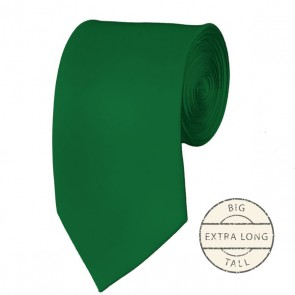 Kelly Green Extra Long Tie Solid Color Ties Mens Neckties