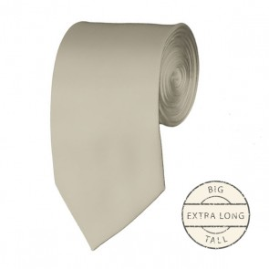 Beige Extra Long Tie Solid Color Ties Mens Neckties