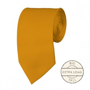 Gold Bar Extra Long Tie Solid Color Ties Mens Neckties