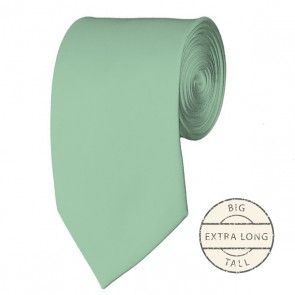 Light Sage Extra Long Tie Solid Color Ties Mens Neckties