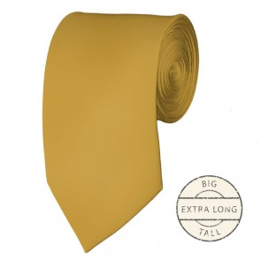 Honey Gold Extra Long Tie Solid Color Ties Mens Neckties