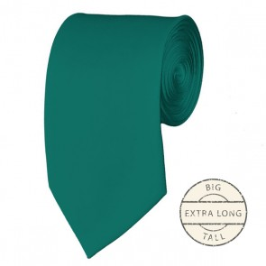 Teal Green Extra Long Tie Solid Color Ties Mens Neckties