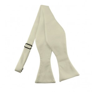 Solid Cream Self Tie Bow Tie Satin Mens Ties