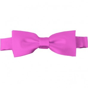Hot Pink Bow Tie Pre-tied Satin Boys Ties