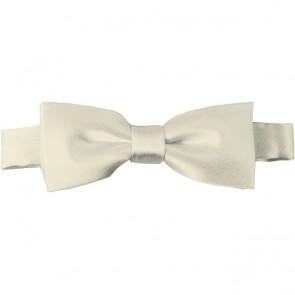 Cream Bow Tie Pre-tied Satin Boys Ties