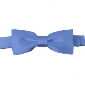 Steel Blue Bow Tie Pre-tied Satin Boys Ties