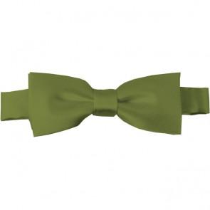 Olive Bow Tie Pre-tied Satin Boys Ties