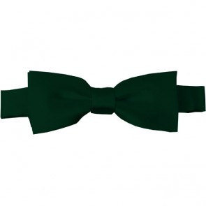 Hunter Green Bow Tie Pre-tied Satin Boys Ties