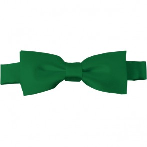 Kelly Green Bow Tie Pre-tied Satin Boys Ties
