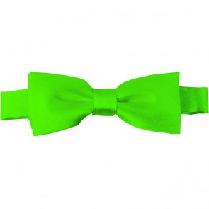 Lime Green Bow Tie Pre-tied Satin Boys Ties