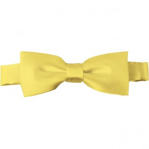 Light Yellow Bow Tie Pre-tied Satin Boys Ties