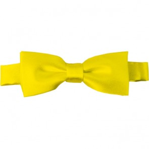 Lemon Yellow Bow Tie Pre-tied Satin Boys Ties