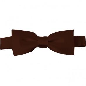 Brown Bow Tie Pre-tied Satin Boys Ties