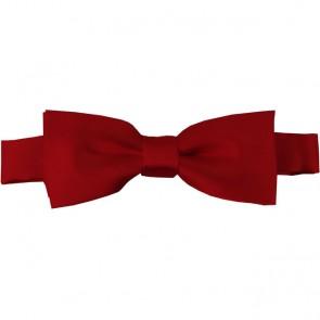 Crimson Bow Tie Pre-tied Satin Boys Ties