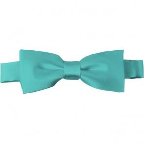 Aqua Green Bow Tie Pre-tied Satin Boys Ties