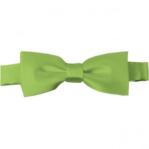 Pear Green Bow Tie Pre-tied Satin Boys Ties