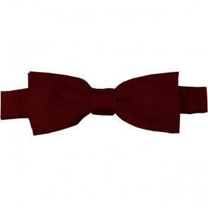 Maroon Bow Tie Pre-tied Satin Boys Ties