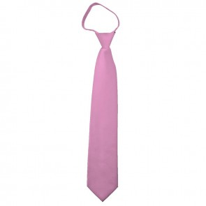 Solid Dusty Pink Boys Zipper Ties Kids Neckties