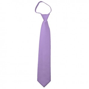 Solid Lavender Zipper Ties Mens Neckties