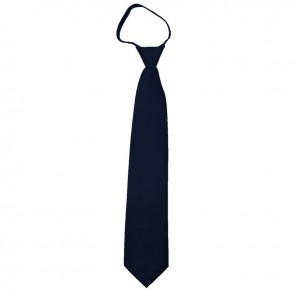 Solid Navy Zipper Ties Mens Neckties