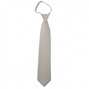 Solid PlatinumZipper Ties Mens Neckties