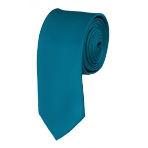 Skinny Oasis Blue Ties Solid Color 2 Inch Tie Mens Neckties