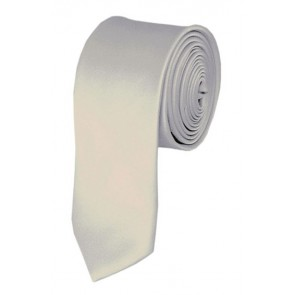Skinny Platinum Ties Solid Color 2 Inch Tie Mens Neckties