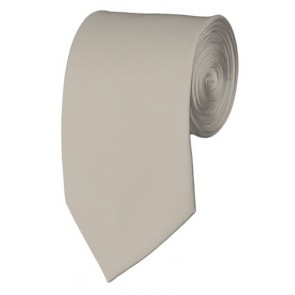 Slim Platinum Necktie 2.75 Inch Ties Mens Solid Color Neckties