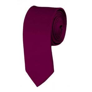 Skinny Raspberry Ties Solid Color 2 Inch Tie Mens Neckties