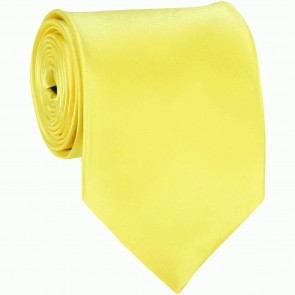 Sunshine Yellow Solid Color Ties Mens Neckties
